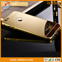 2016 newest Luxury aluminum ultra-thin mirror metal bumper mobile phone case cover