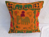 2015 Latest Patchwork Elephant Cushion Cover Applique Work Cotton Cushion Cover