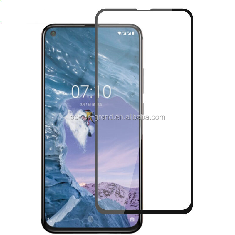 2.5D 9H Silk printing FULL Glue cover Tempered glass screen protector for Nokia X71