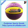 Stock hot selling cheap colorful rubber made basketball