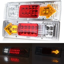 2016 new 12V 24V LED light Rear Turn Signal Truck Trailer Caravan Led Trailer Tail Lights Stop Rear Tail Indicator Light