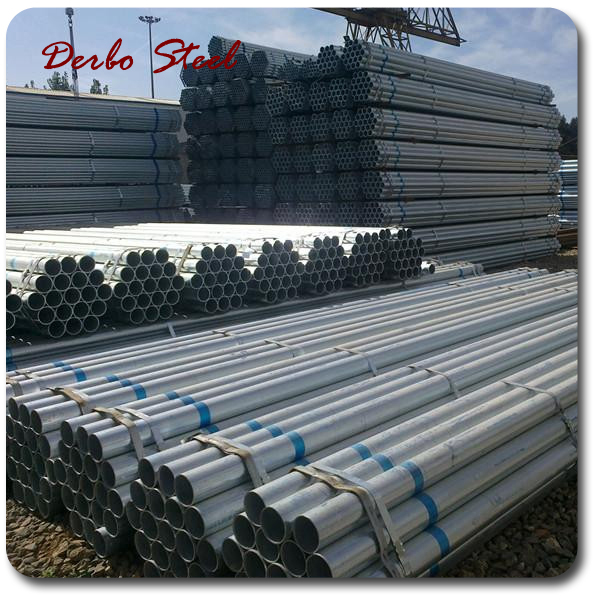 China Manufacturer EN10255 round hot dipped galvanized steel pipe/threaded galvanized steel pipe