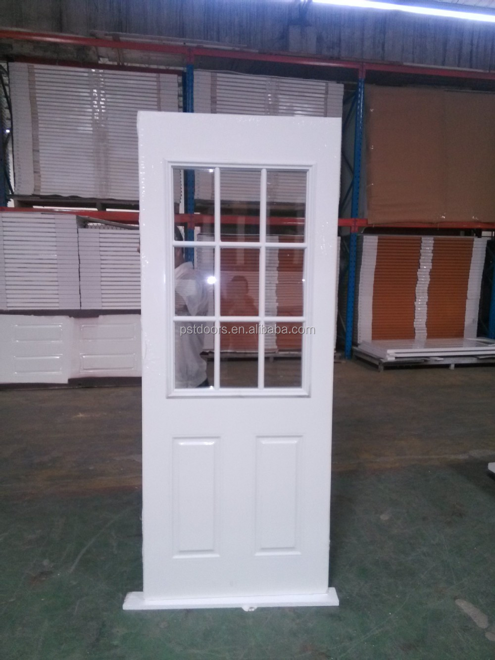 Steel Door for Interior Use American Style with Knock Down Steel Door Frame made in Guangdong
