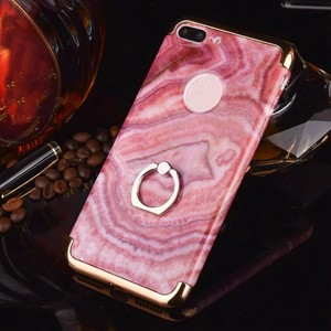 For iphone 7 marble texture mobile case electroplating bumper Hard Plastic cell phone cover case for iPhone 7 plus