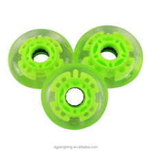 Flashing LED PU inline skate wheels