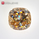 GIGAJEWE Yellow Color 3.2ct Cushion Cut Hardness near Diamond Loose Moissanite Gemstone For Jewelry set