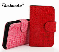 For LG Optimus L3 E400 Red Crocodile Wallet Leather Case Cover Skin