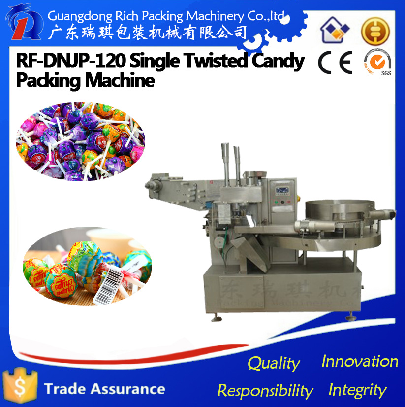 automatic lollipop candy single twist packaging machine