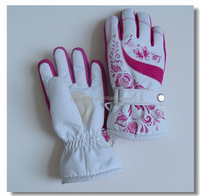 Most popular fancy colorful winter gloves