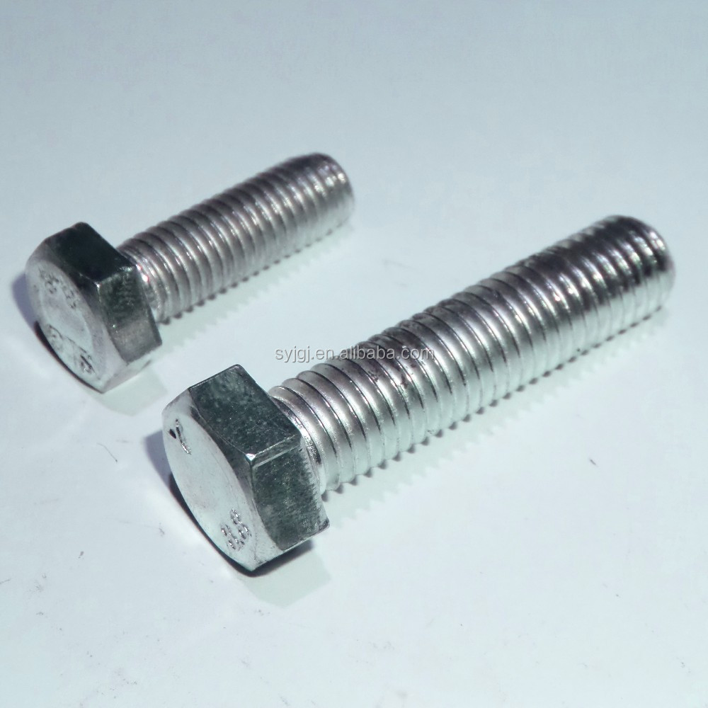 8.8 Grade Black and Galvanized DIN933 Hex Bolt and Nut