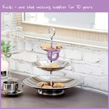 KA857 high quality hot sale cake pop stand 3-layer stainless steel cake stand