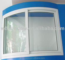Manufacturer of PVC curve sliding window foshan price