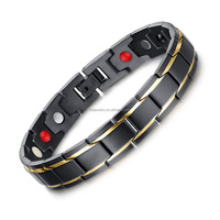 Bio Magnetic Stainless Steel Bracelet With
