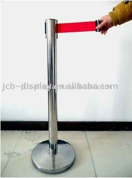 polished stainless steel post with 5 meter belt stanchion