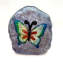 Garden Decoration Large Stone Design Resin Solar Butterfly Statue
