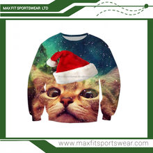 heavy weight pullover sweater full sublimation print christmas pullover sweater