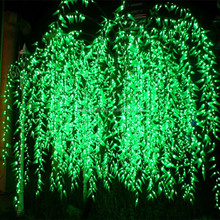 2.5M outdoor use waterproof cherry blossom tree led willow tree