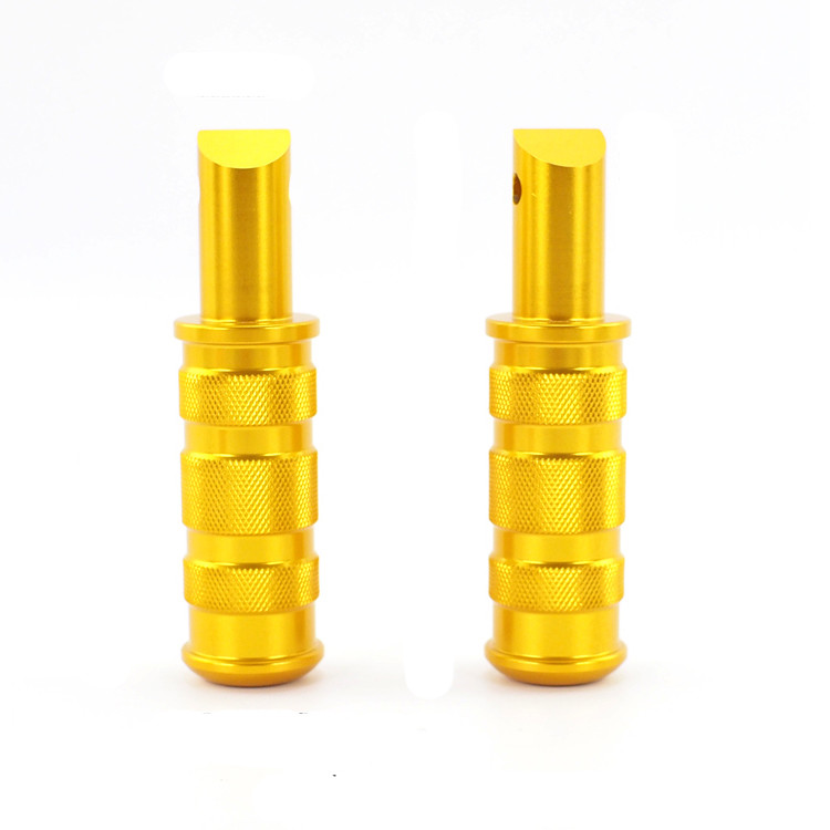 Gold Motorcycle Hand Grips Foot Pegs Toe Pegs