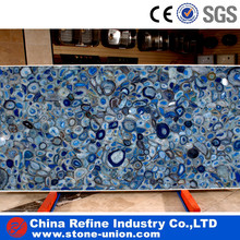 Textures marble and onyx ,Polished Blue Onyx Agate Stone Blue Agate Tile