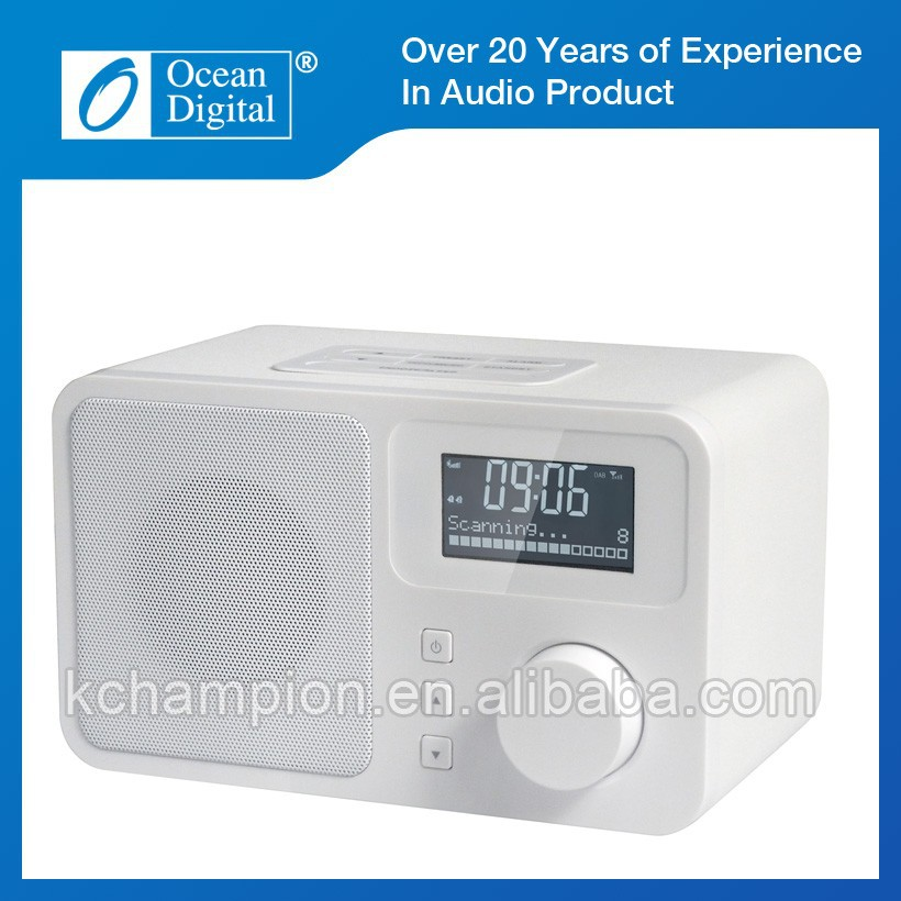 DAB Radio Wooden Finish Digital Alarm Clock