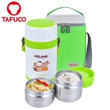 2 Layer Stainless Steel metal lunchbox Food Warmer Tiffin Lunch Box For Kids