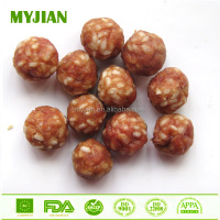 pork rice ball premium quality pet treat dried dog snacks natural pork meat dog training treat OEM private label