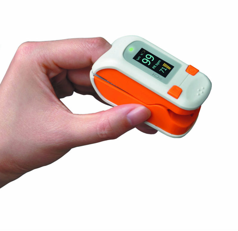 Blue/Orange/Gray Colorful OLED/LCD Fingertip Pulse Oximeter for Home Care