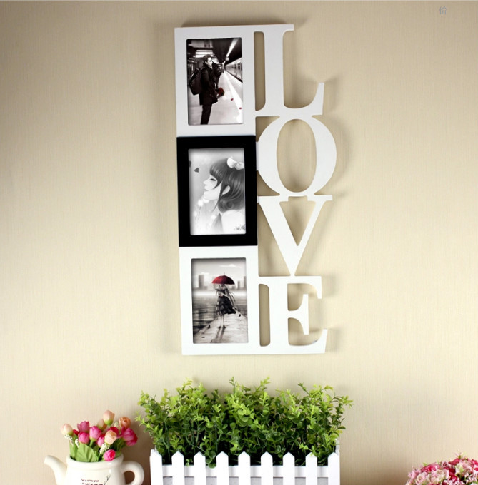 Hot sale wholesale colorful fancy MDF wood boy and girl photo frame