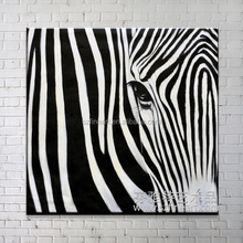 Modern canvas animal zebra oil painting