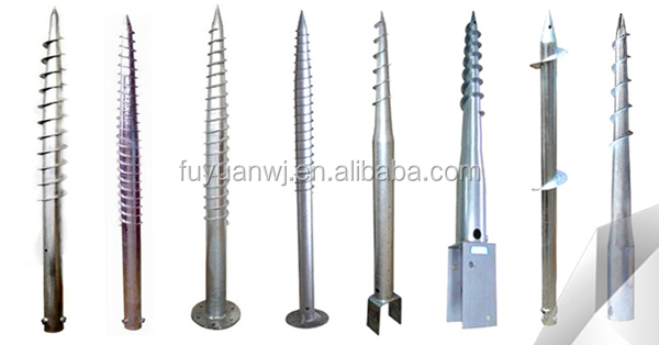 Foundation Used Screw pole / sand anchor / ground screw spike for fence