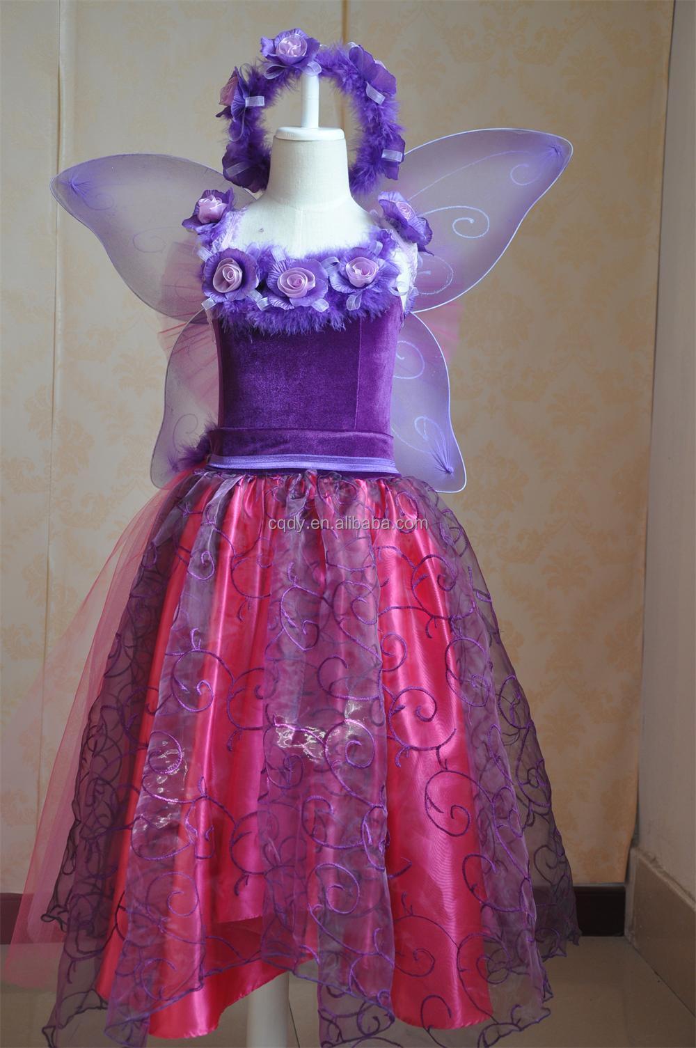 2015 Fairy kid fairy dress with garland,children party wear western ...