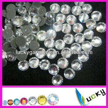 2014 New!Hot sale highest quality HOT FIX DMC rhinestones Copy swarov 2038 crystal Color for clothing set