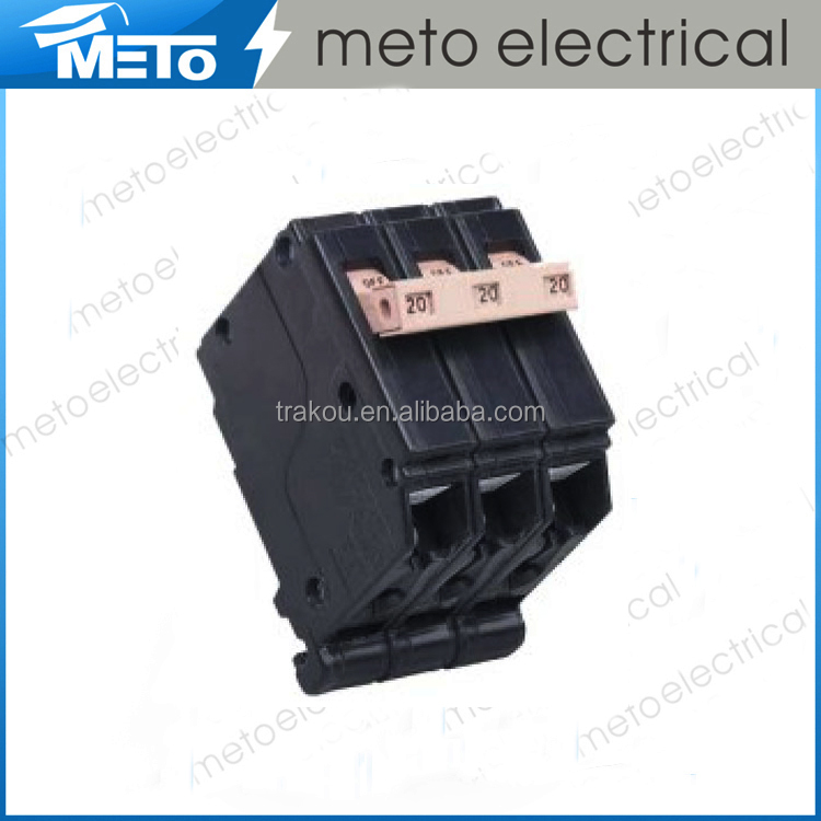China manufacturer three poles plug in 32 amp circuit breaker