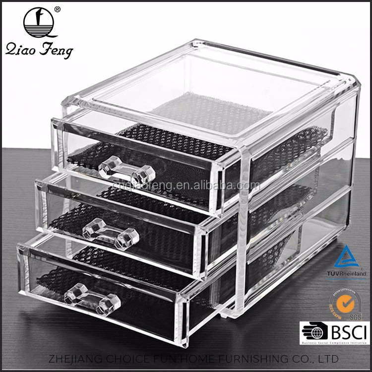 Empty Acrylic Drawers Plastic Transparent Makeup box