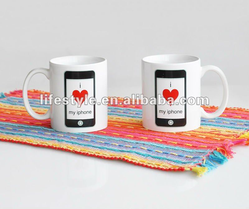11oz Ceramic Coffee Cup, Iphone Promotional Mug, Lifestyle