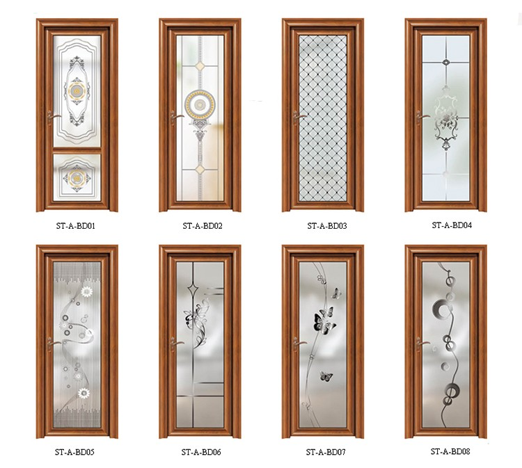 Beautiful Bathroom Door Design Frosted Glass Aluminium Bathroom Doors