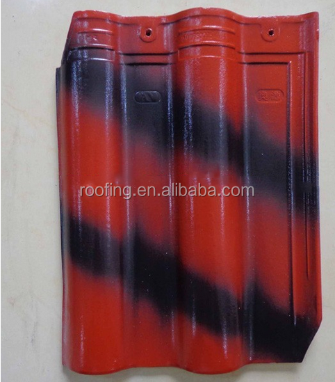 Double color clay curved roof tile of best price in indian market