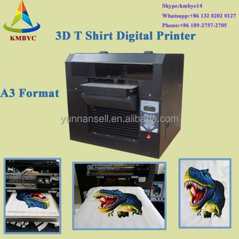 3d T Shirt Printer A3 Size T Shirt Logo Printing Machine