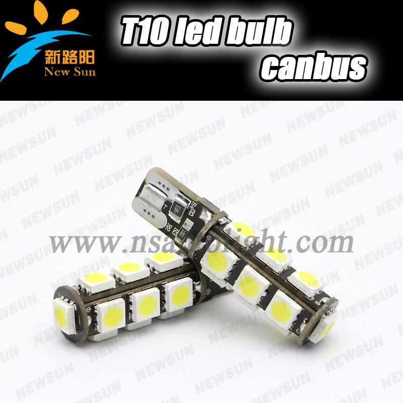 Canbus T10 W5W 13 leds ,Constant Current T10 W5W 13 leds,SMD5050 T10 13 smd white/blue/green/yellow/red Led Lamp