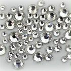 Factory Direct Crystal Clear Strass Glass Round Flat Back Rhinestones For Garment Decoration