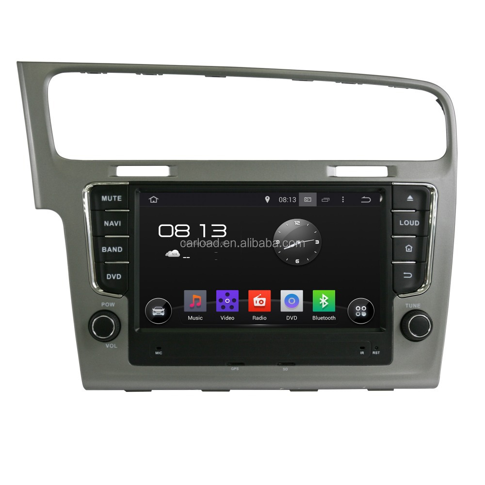 Special Android car dvd for 2 din vw golf 7 with gps, iPod, TV, Wifi, 3G, Mirror link functions