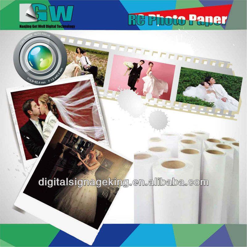 200gsm High Glossy inkjet photo paer with special price for large inkjet format printers
