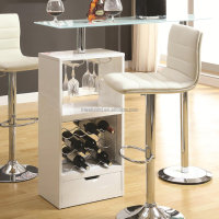 Minimalist Home Bar Design Ideas Modern Bar Stool Under Table Wine Cellar CL - 3239
