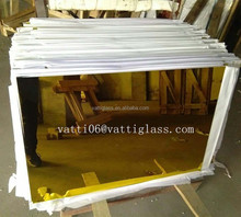 India 1mm glass mirror sheet 1mm golden color aluminum mirror glass price