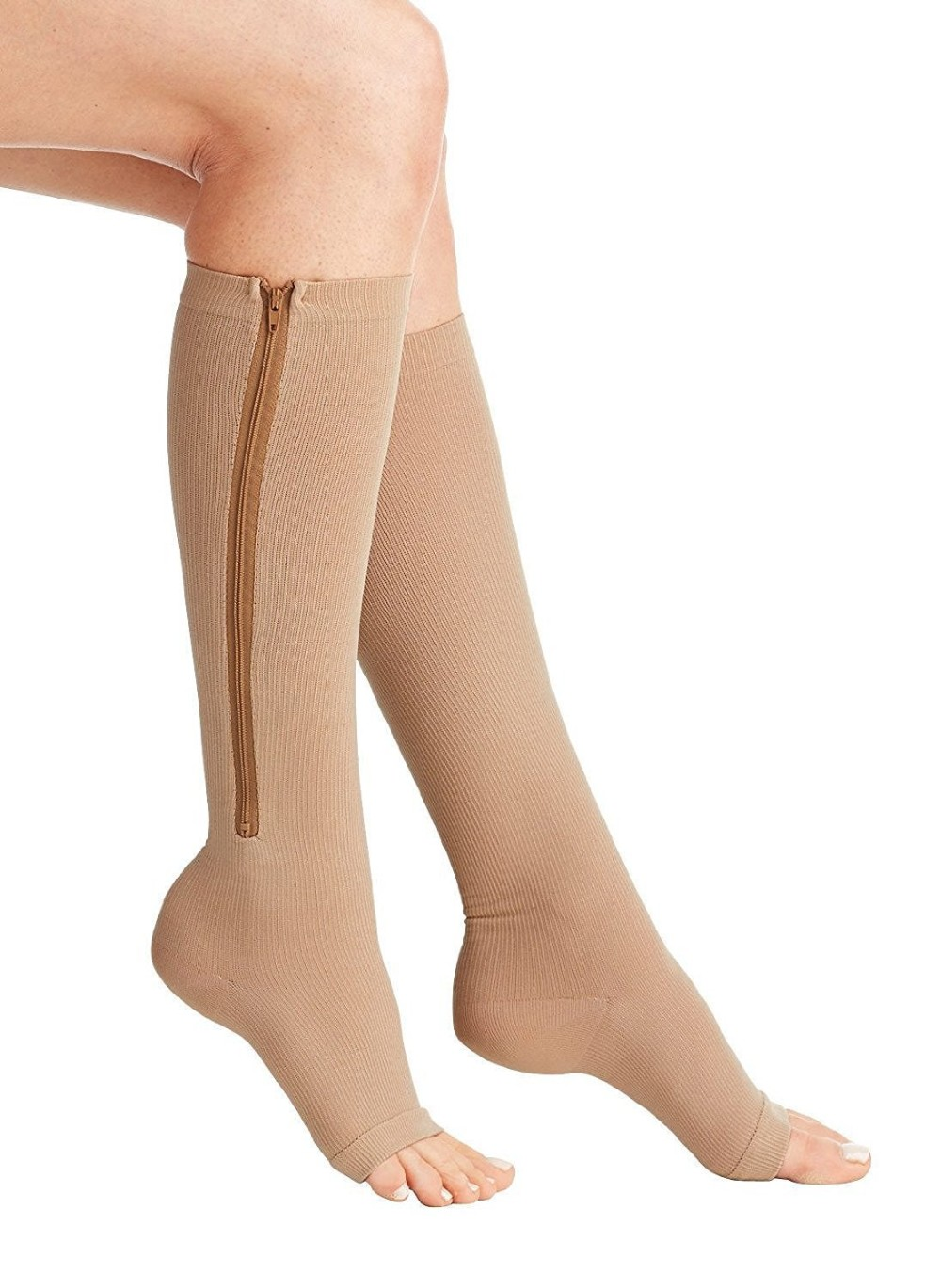 Zipper Compression Socks Medical with Toe Open Knee High Socks for Men Women,Zipper Compression Socks Medical with Toe Open Knee High Socks for Men Women,Zipper Compression Socks Medical with Toe Open Knee High Socks for Men Women