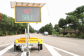 New Arrival LED Traffic Control Road Sign Solar Powered Message Board Mobile Trailer Variable Message Signs