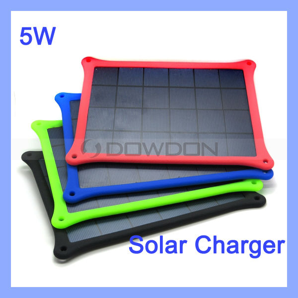 Portable Solar Power Charger for iPhone iPad Solar Mobile Charger 5W