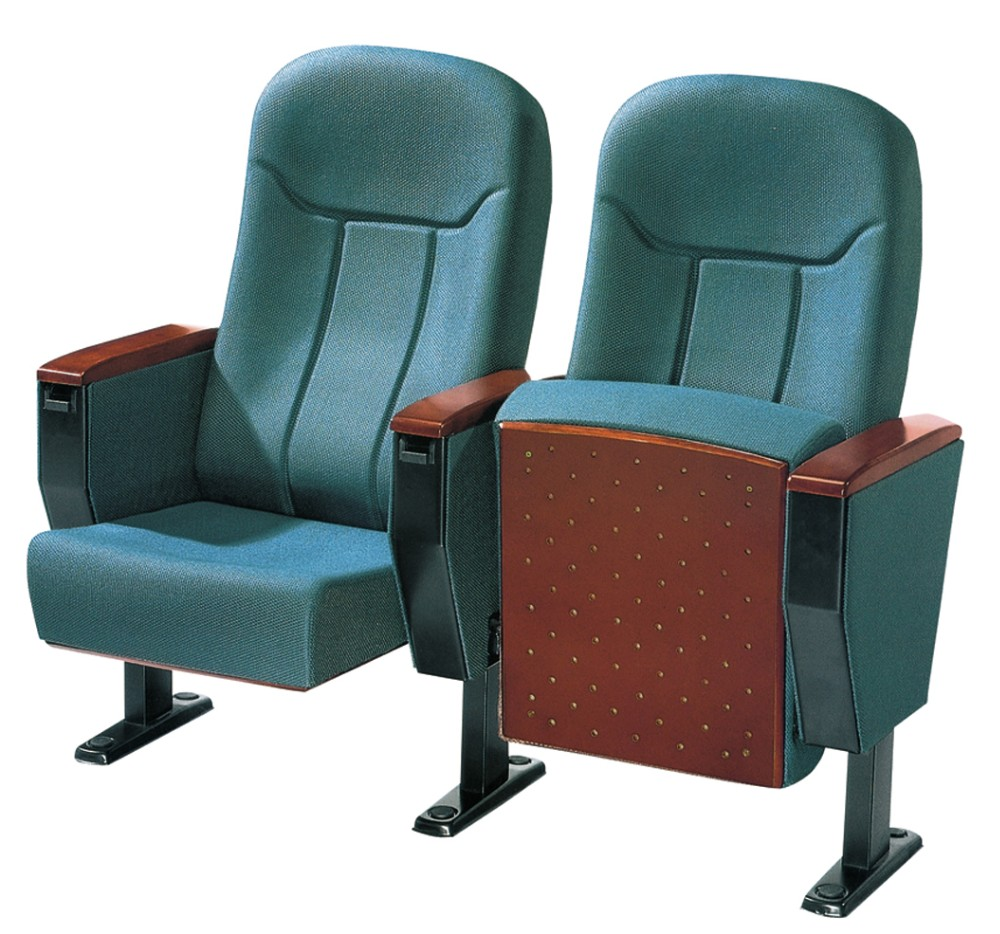 Wood cover folding 3d cinema chair auditorium chairs with writing pad KL-817