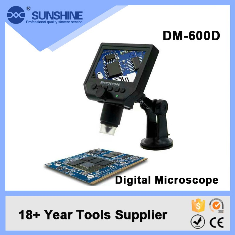 Wholesale Portable Optical Digital Zoom Microscope With Screen For Pcb Inspection