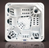Factory Price winter 5 person luxury wirlpool acrylic balboa badewanne swim spa massage hot tub for outdoor